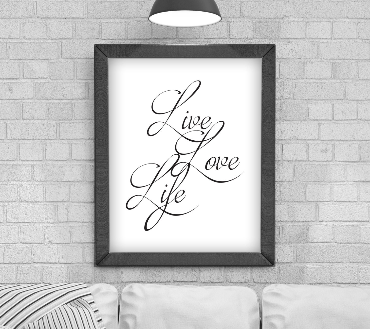 Digital Download Live Love Life Typography Poster Printable Art Instant Download Wall Prints Digital Art