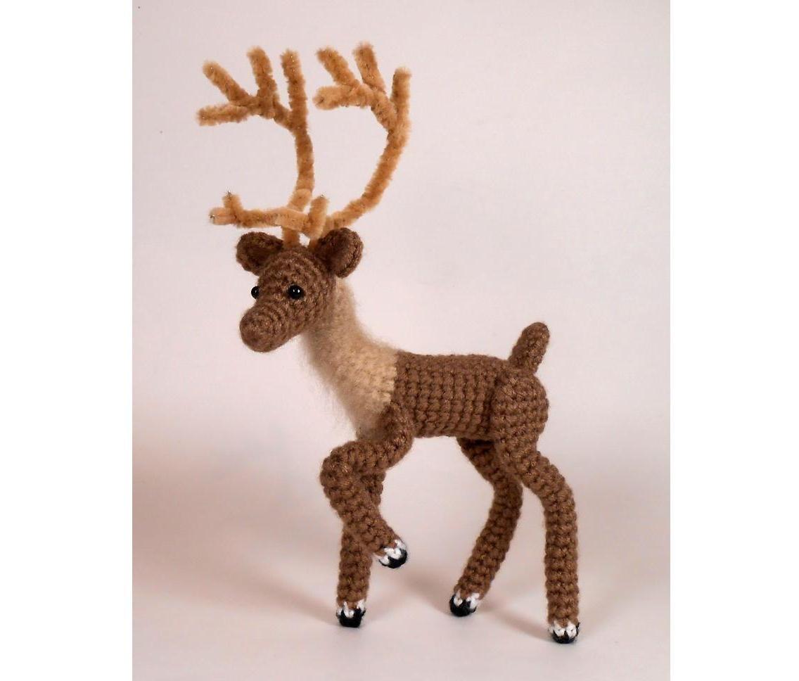 Crochet Deer PATTERN Reindeer by JRPcrochet on Etsy