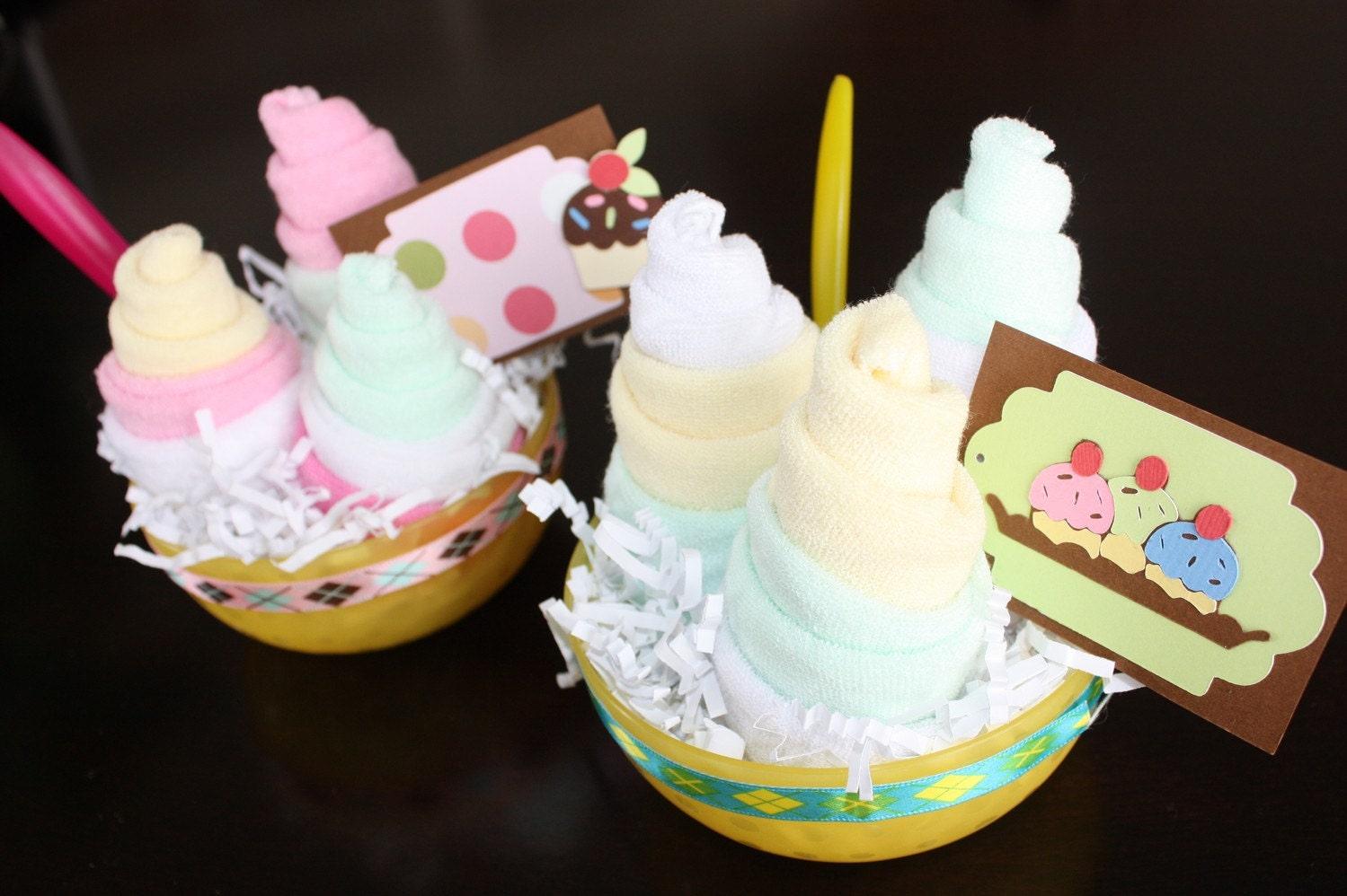 Lemon Melon Ice Cream Sundae - filled with baby items
