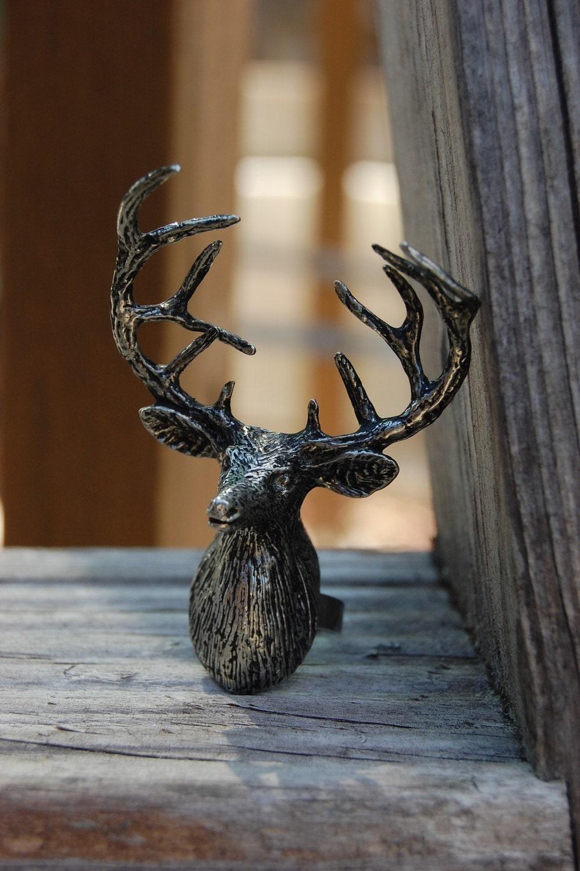 Silver Deer Ring