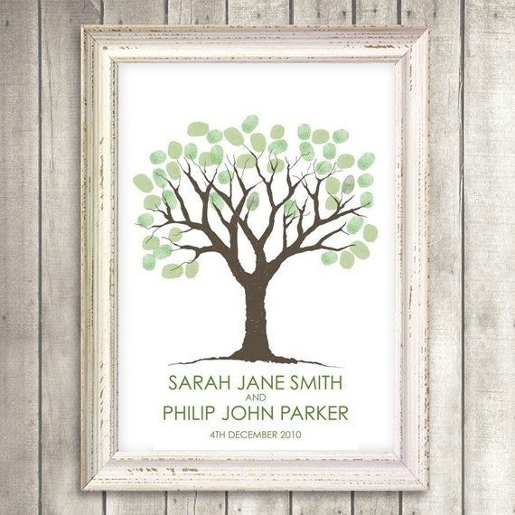 printable guestbook wedding fingerprint tree From idoityourself