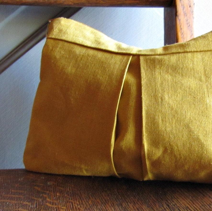 Mustard Yellow Cosmetics Bag