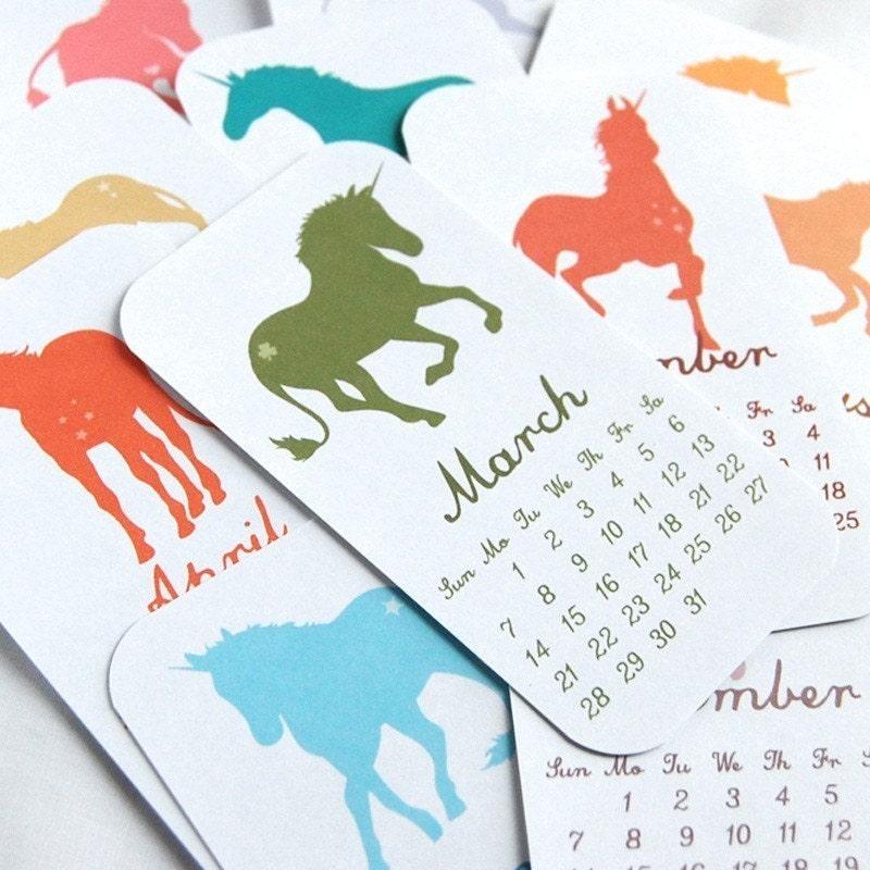 2010 Unicorn Calendar