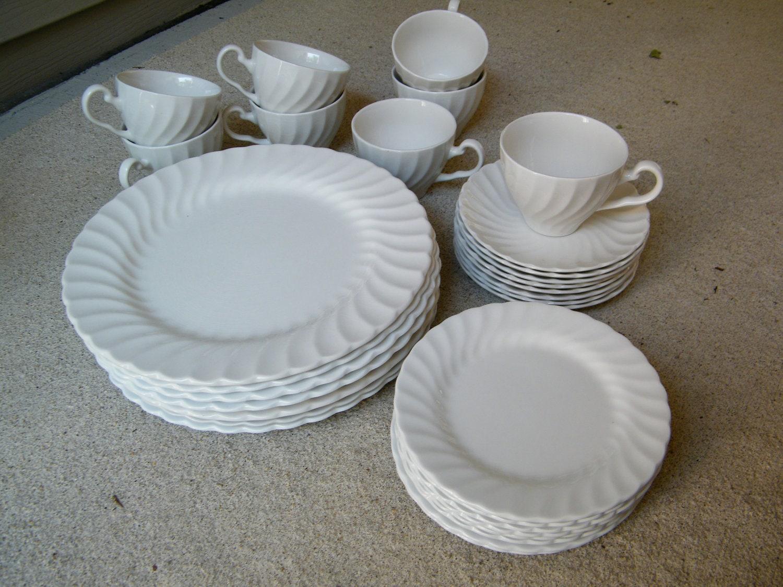 White Ironstone Dinnerware Johnson Brothers By