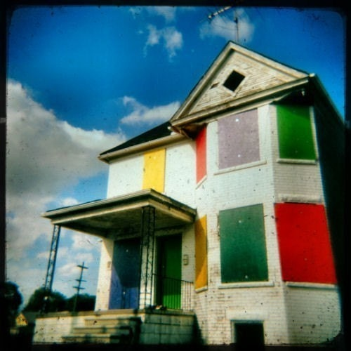 Rainbow Crackhouse - Fine Art HOLGA Print