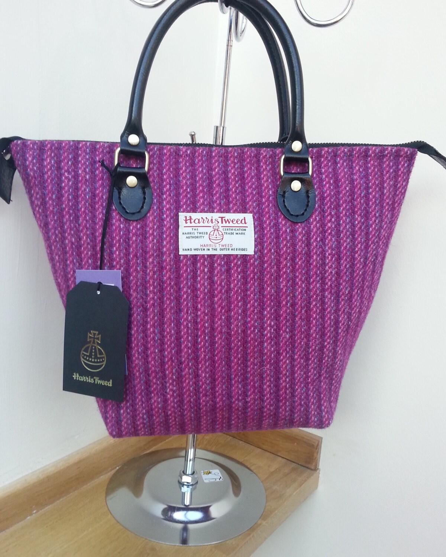 Purple Harris Tweed Handbag