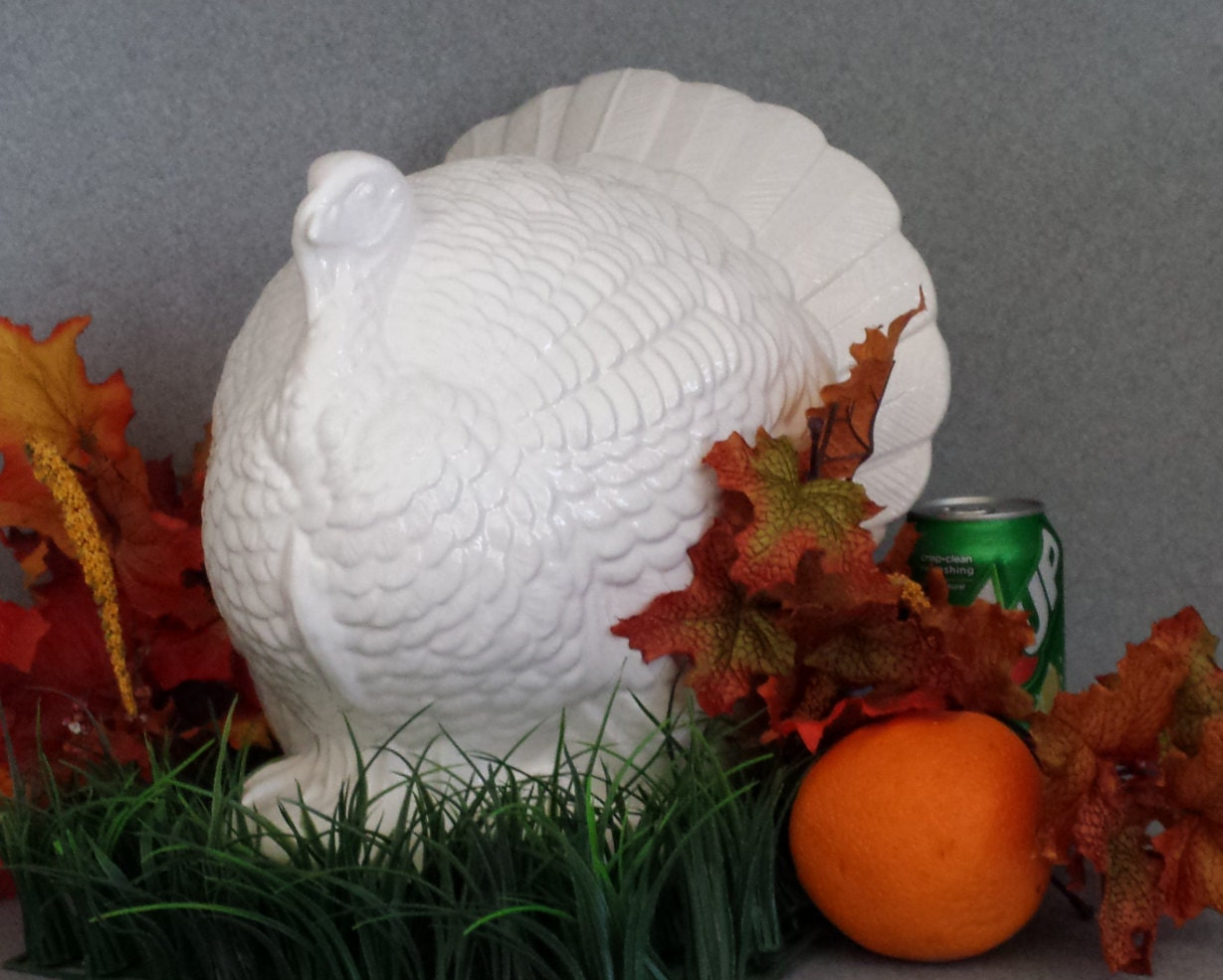 Large table top handmade ceramic turkey by suesuesuecrafts