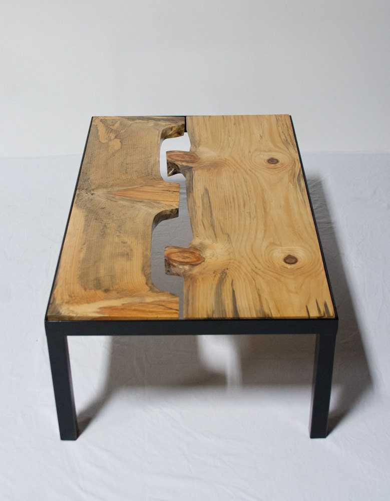 Sale Monkey Puzzle Wood Coffee Table Modern Natural Stylish
