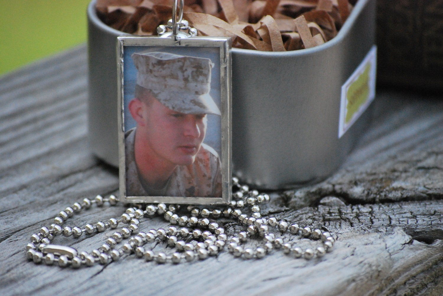 Your Favorite Soldier  Custom Photo Charm 2 Sided