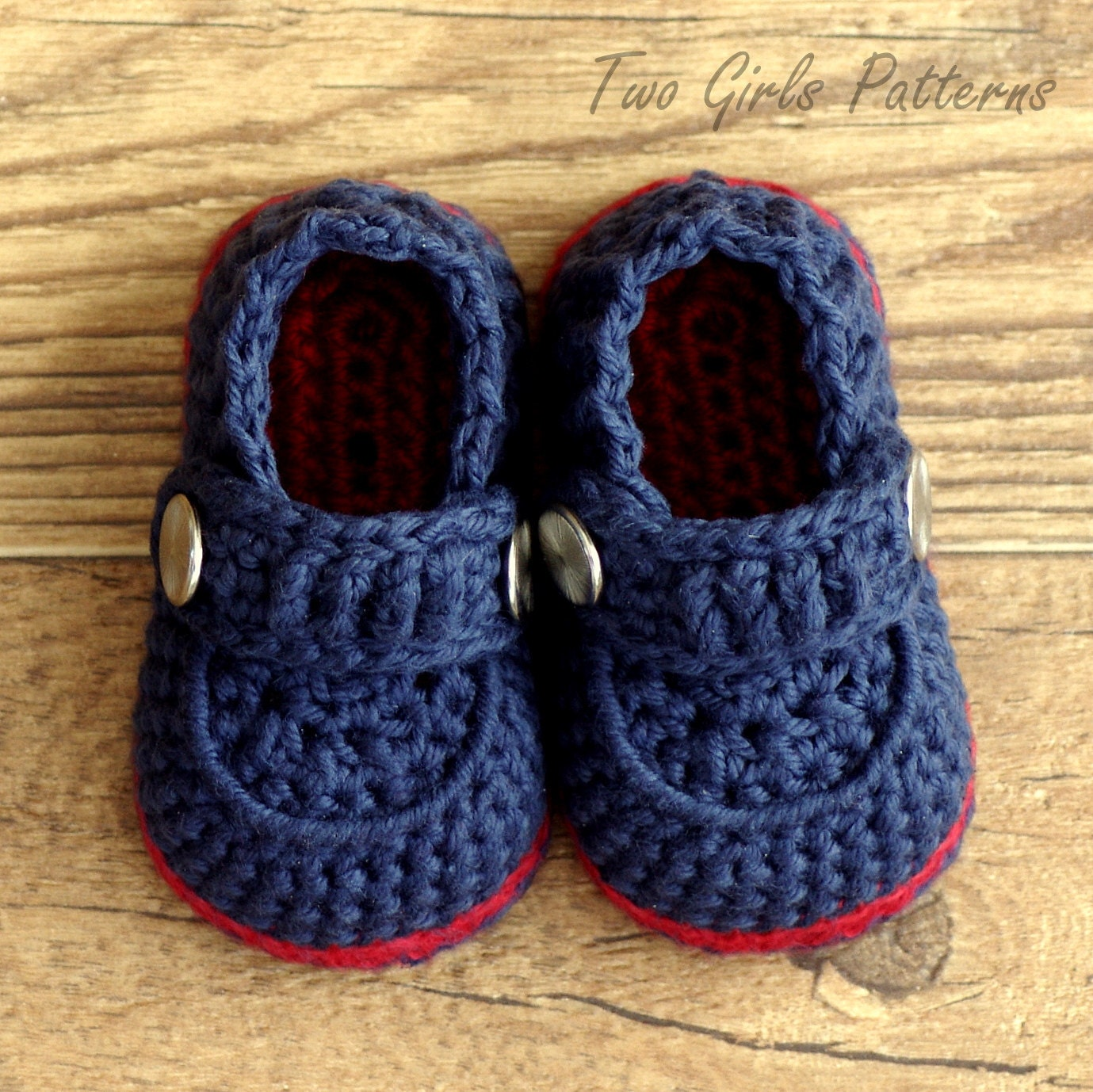 Easy Crochet Baby Boy Hat Patterns : Crochet patterns Baby Boy Boot The Sailor by TwoGirlsPatterns