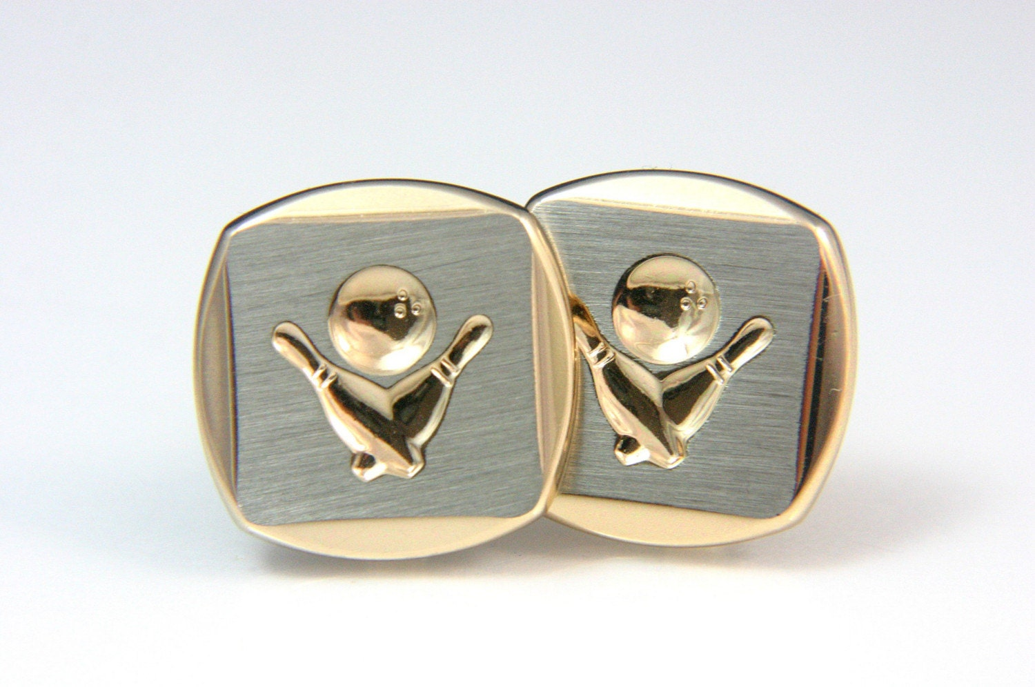 Vintage Let Go Bowling Cuff Links