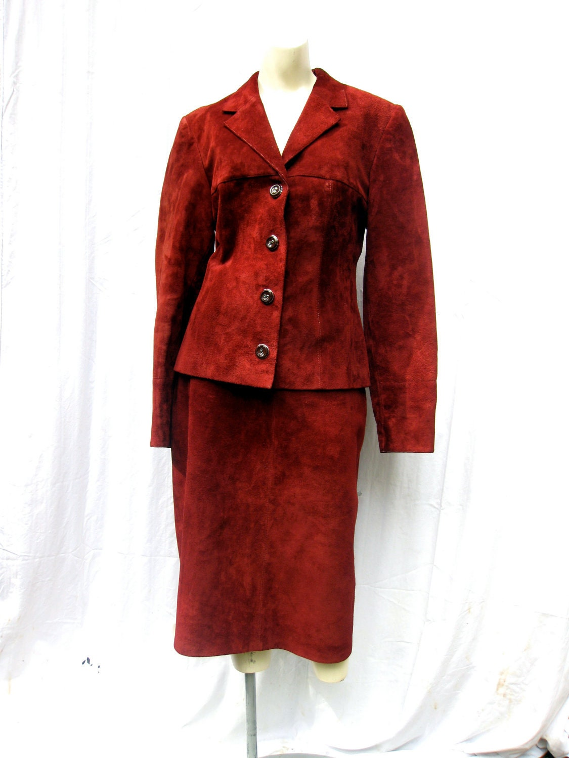 items similar to 1970s suede leather skirt suit on etsy