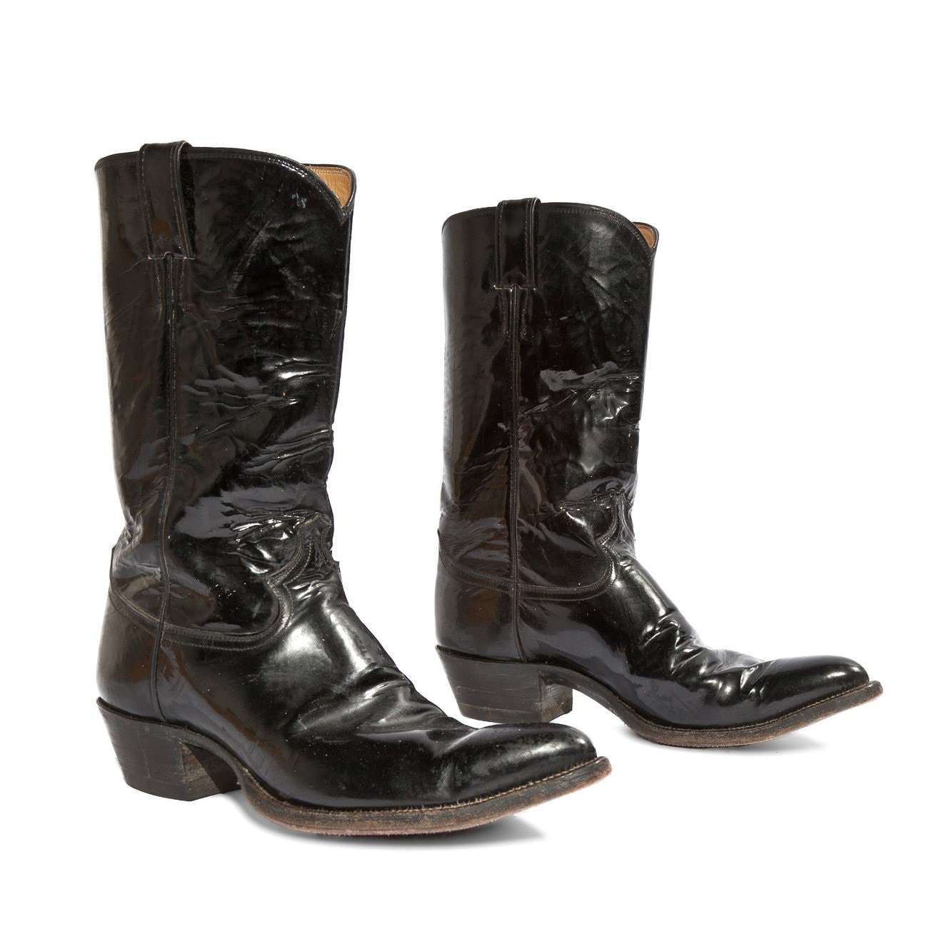 s vintage cowboy boots by justin black by