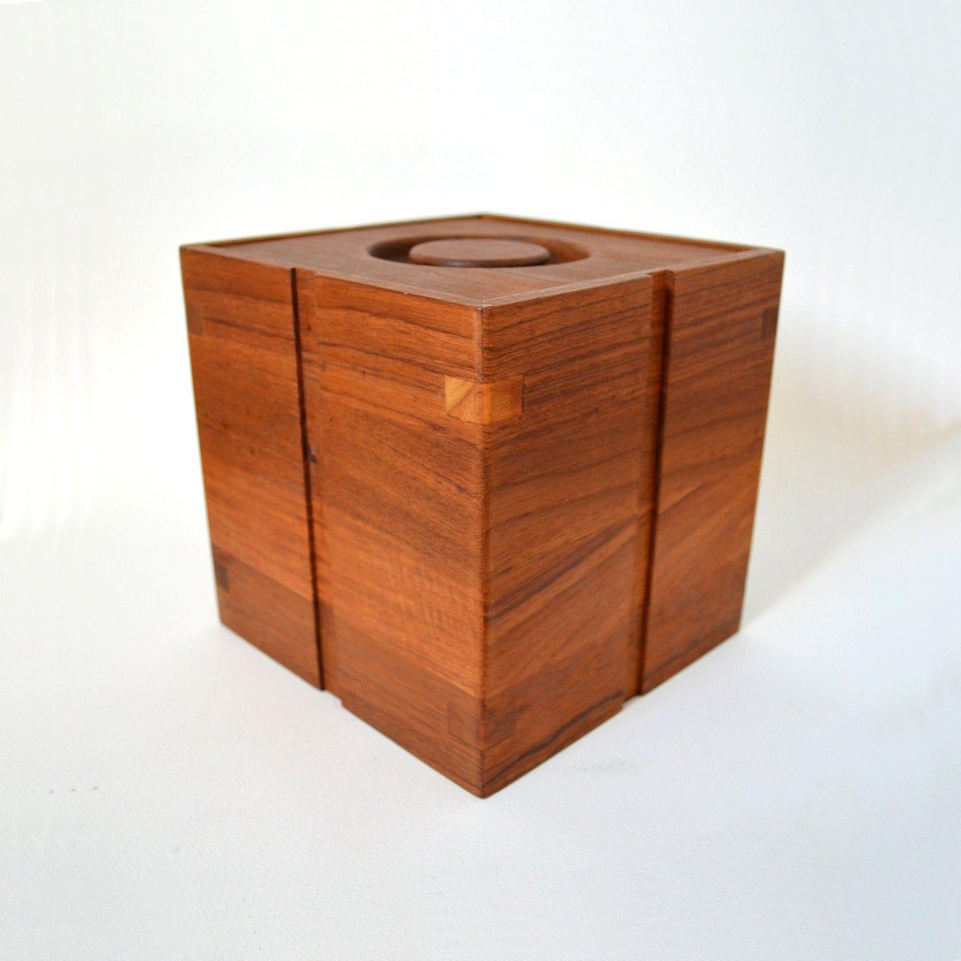 Mid Century Modern Kalmar Teak Ice Bucket By Midmodmomstore
