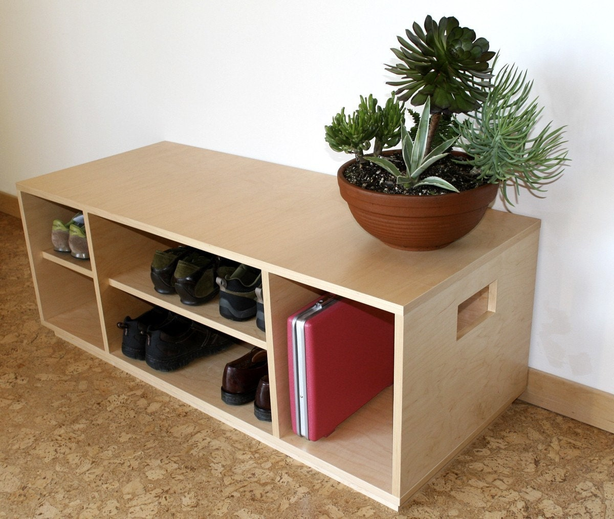 Maple Storage Bench, Handmade w/ Optional Front Panels