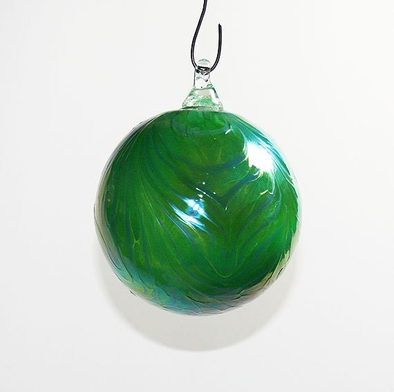 Hand Blown Glass Christmas Tree Ornaments : Items similar to hand blown glass christmas ornament
