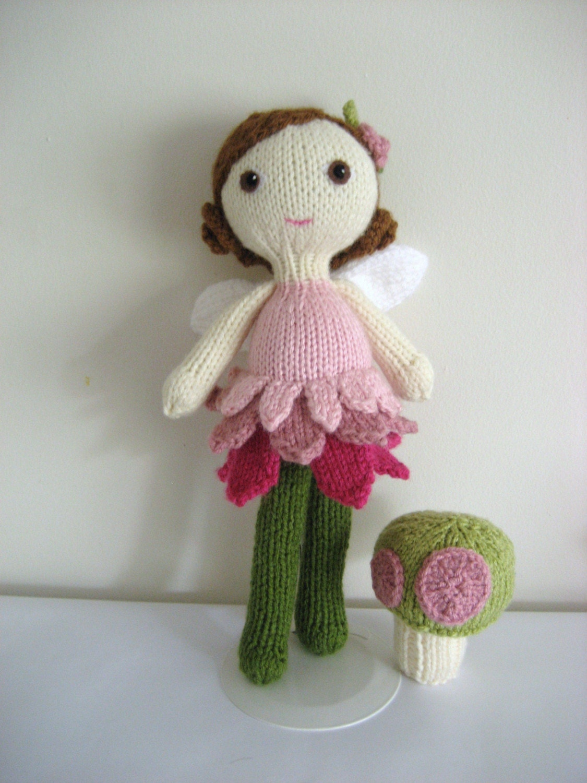 PDF- Knit Fairy Doll and Mushroom Pattern Set