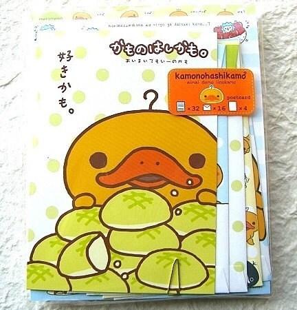 Kawaii Cute Japanese Letter Set - Kamonohashikamo - Cute San-X Platypus