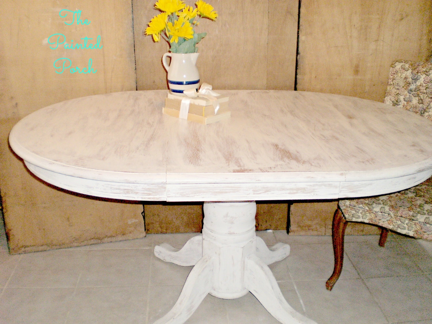 Unavailable listing on etsy - White pedestal kitchen table ...