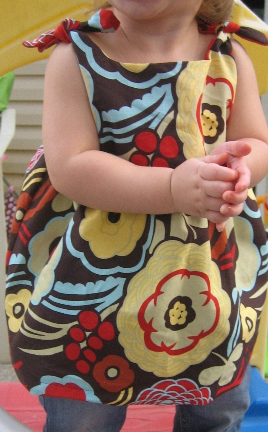 Infant, Toddler, Girls Knot Dress Sizes 0-3 months, 3-6 months, 6-9 months, 12 months,18 months