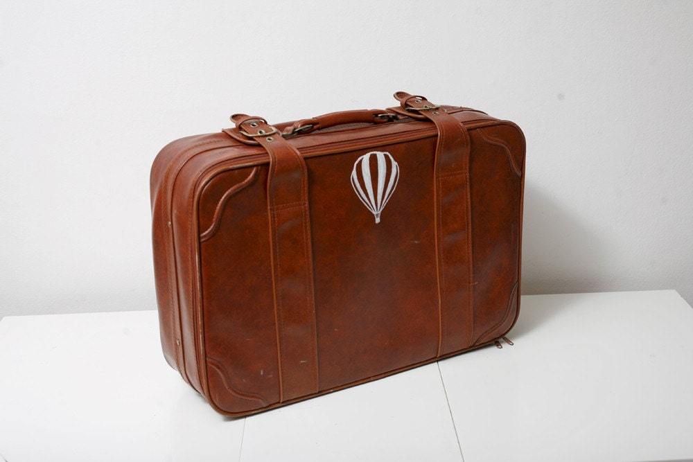 Hand Painted Vintage Upcycled Suitcase