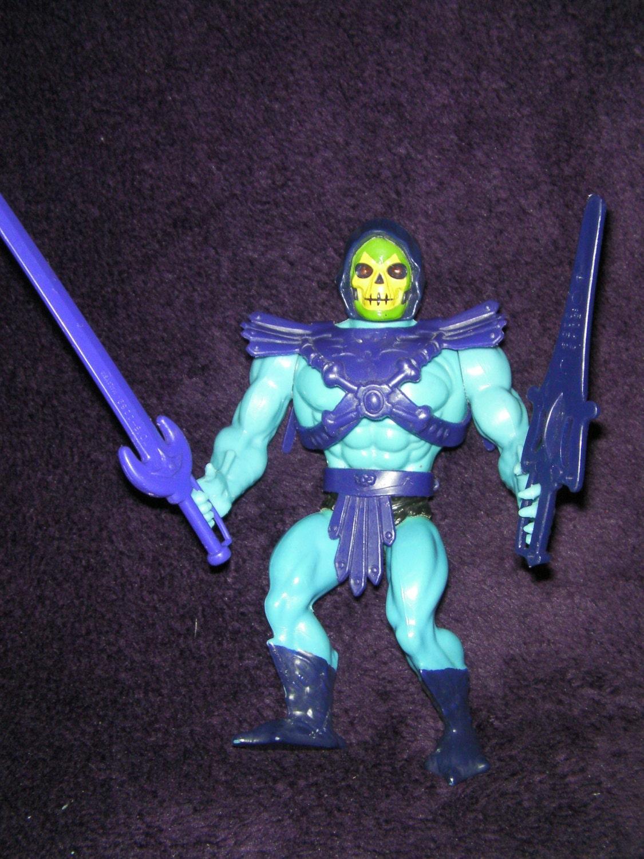 Vintage 1980s Retro SKELETOR HeMan Toy Figure Masters of the Universe By Mattel