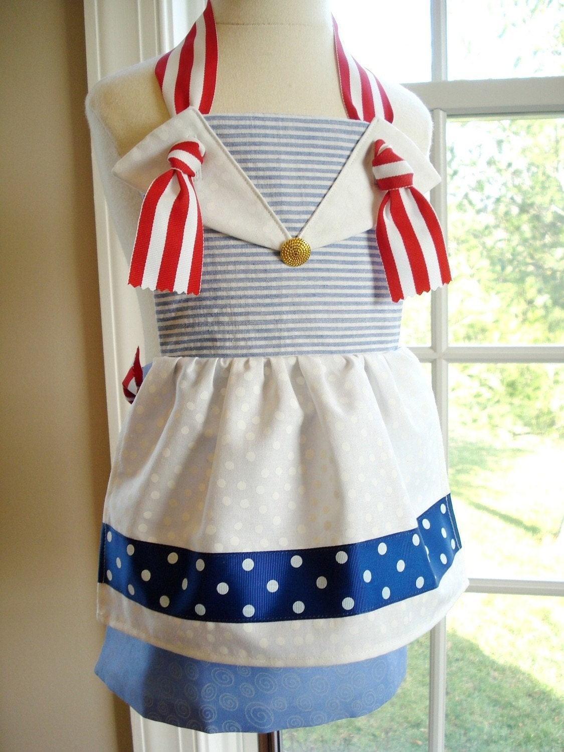 SALE - PDF ePattern - Sailor and Clown Knot Aprons for Children - Three Sizes