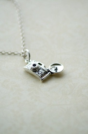 Miniature Camera - Sterling Silver Necklace By Two Little Doves