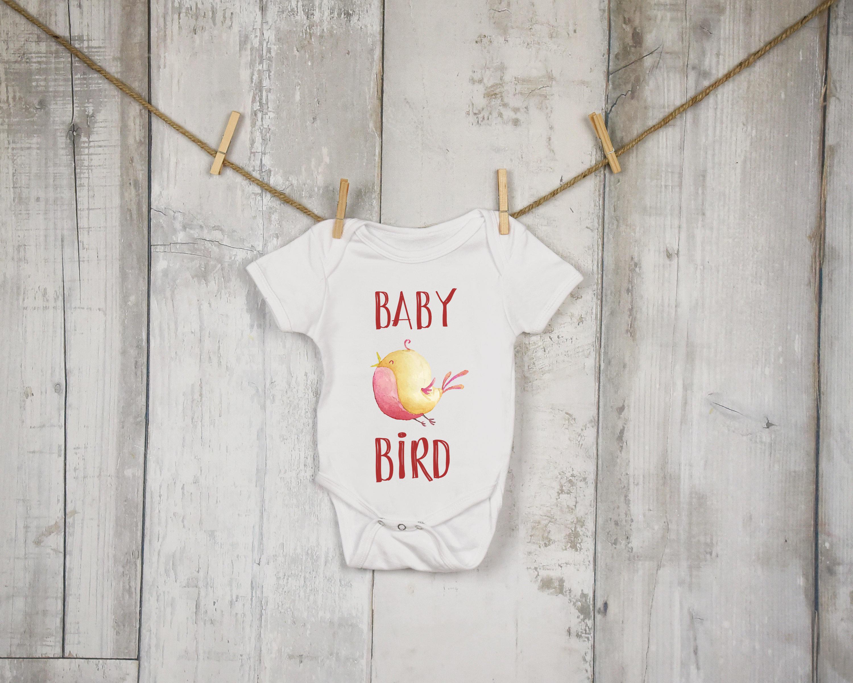Baby Bird Baby Onesie Bird Baby Vest Baby Reveal Baby Bodysuit Cute Kids T Shirt Unisex Kids T Shirt