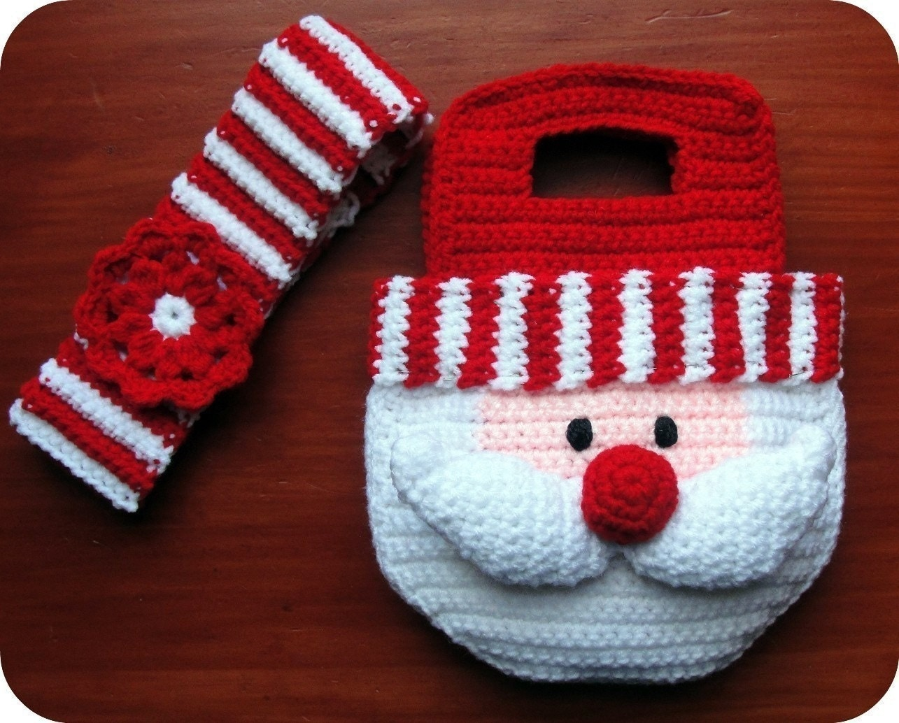 Free crochet santa purse pattern dancox for girls santa crochet pattern christmas purse bag by bankloansurffo Image collections