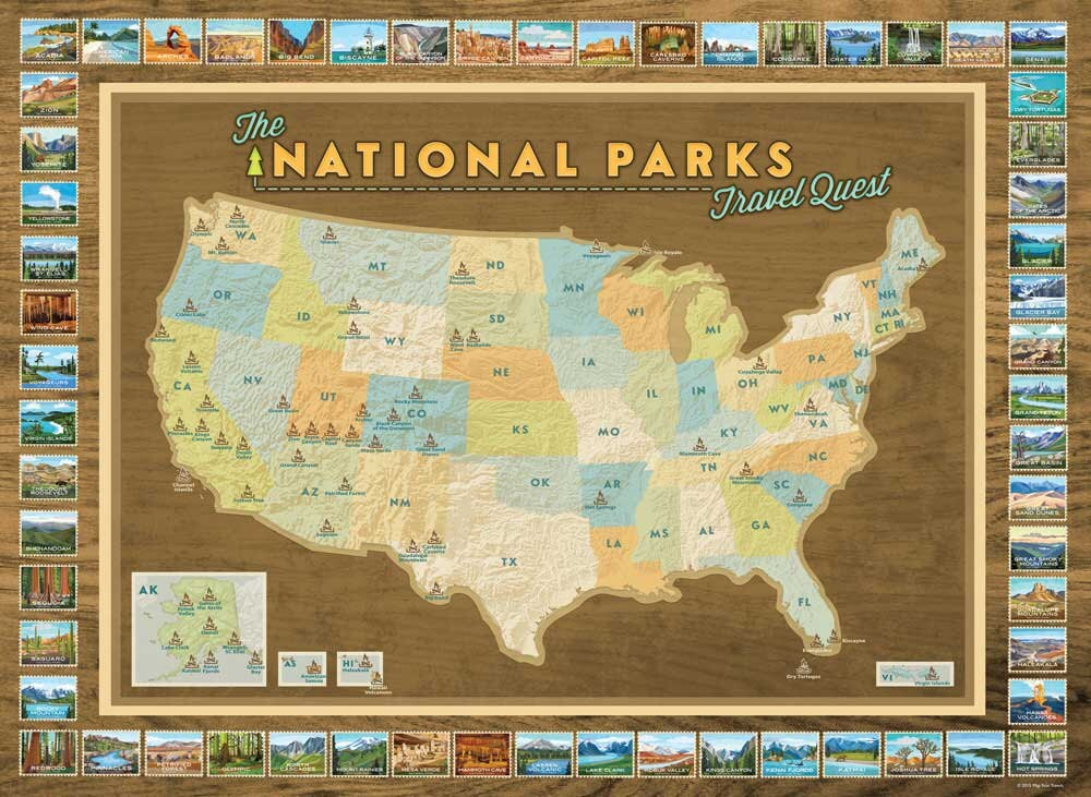 New National Parks Travel Quest Poster