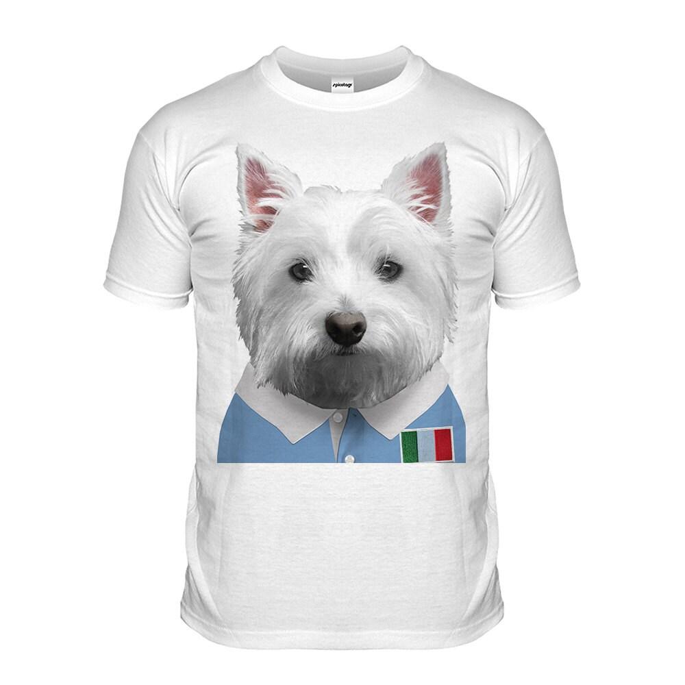 Italy Rugby Tshirt Westie Tshirt Puppy Top Italian Dog Grand Slam Shirt Funny Animal Tee Cute Fashion Womens Mens Kids Italia Rome