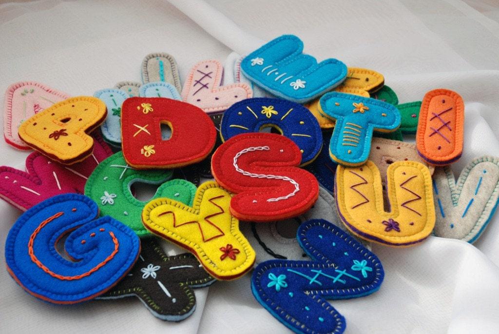 Flat Embroidery alphabet