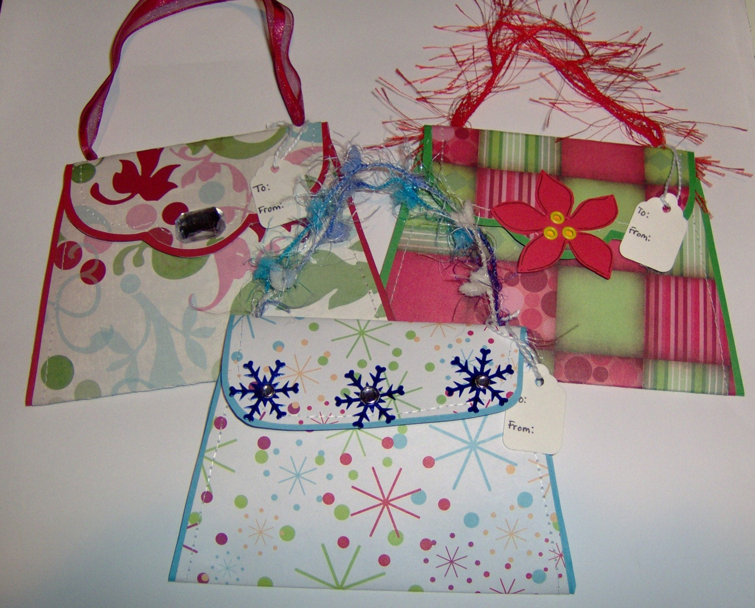 Gift Card Holders-- Purse Paper Piecing --Sewn