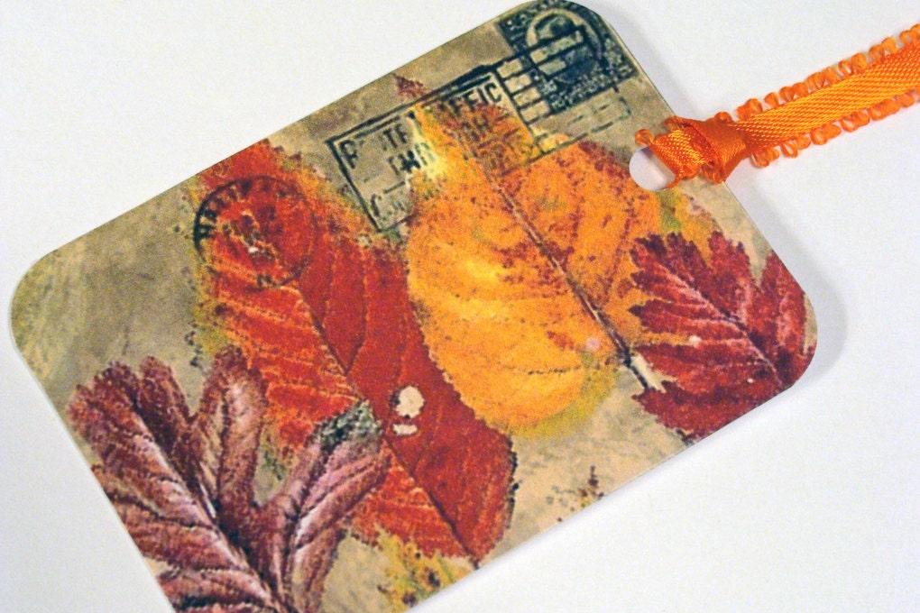 Fall Gift Tags Autumn Leaves Set of 8 - SiriusFun