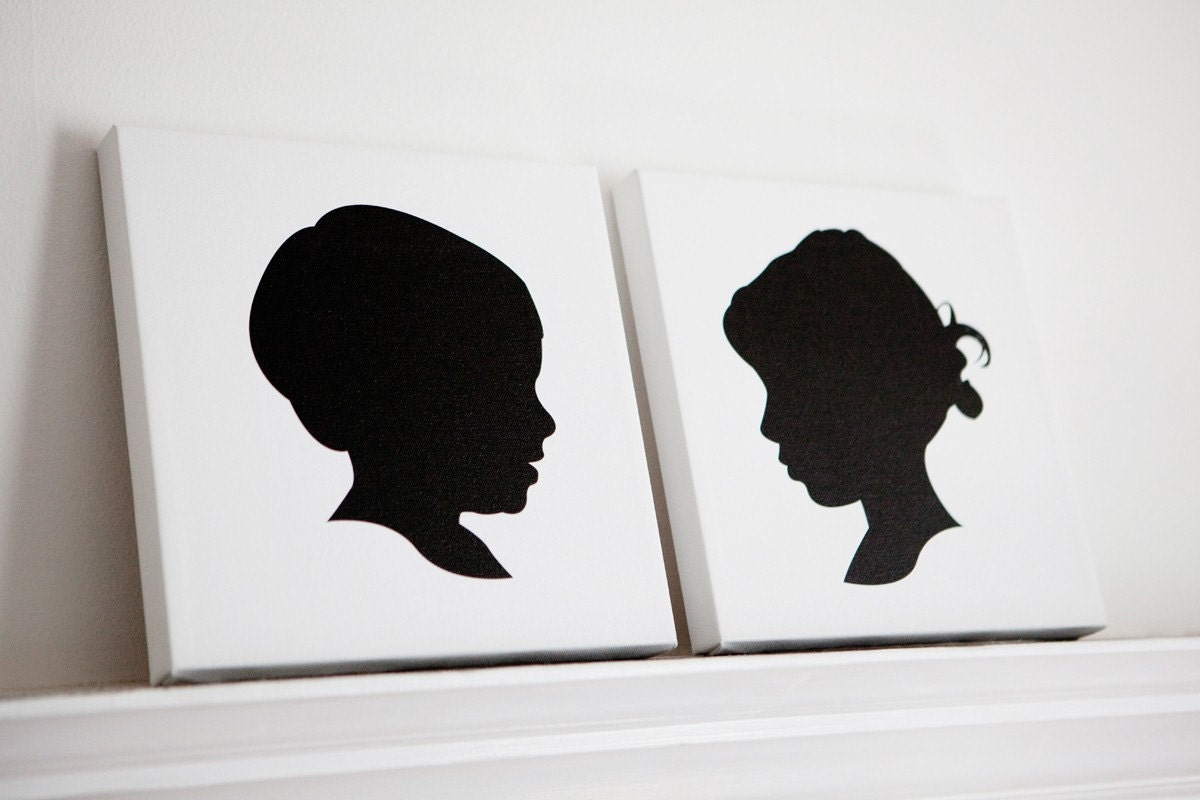 Custom Silhouette on Gallery Wrapped Canvas