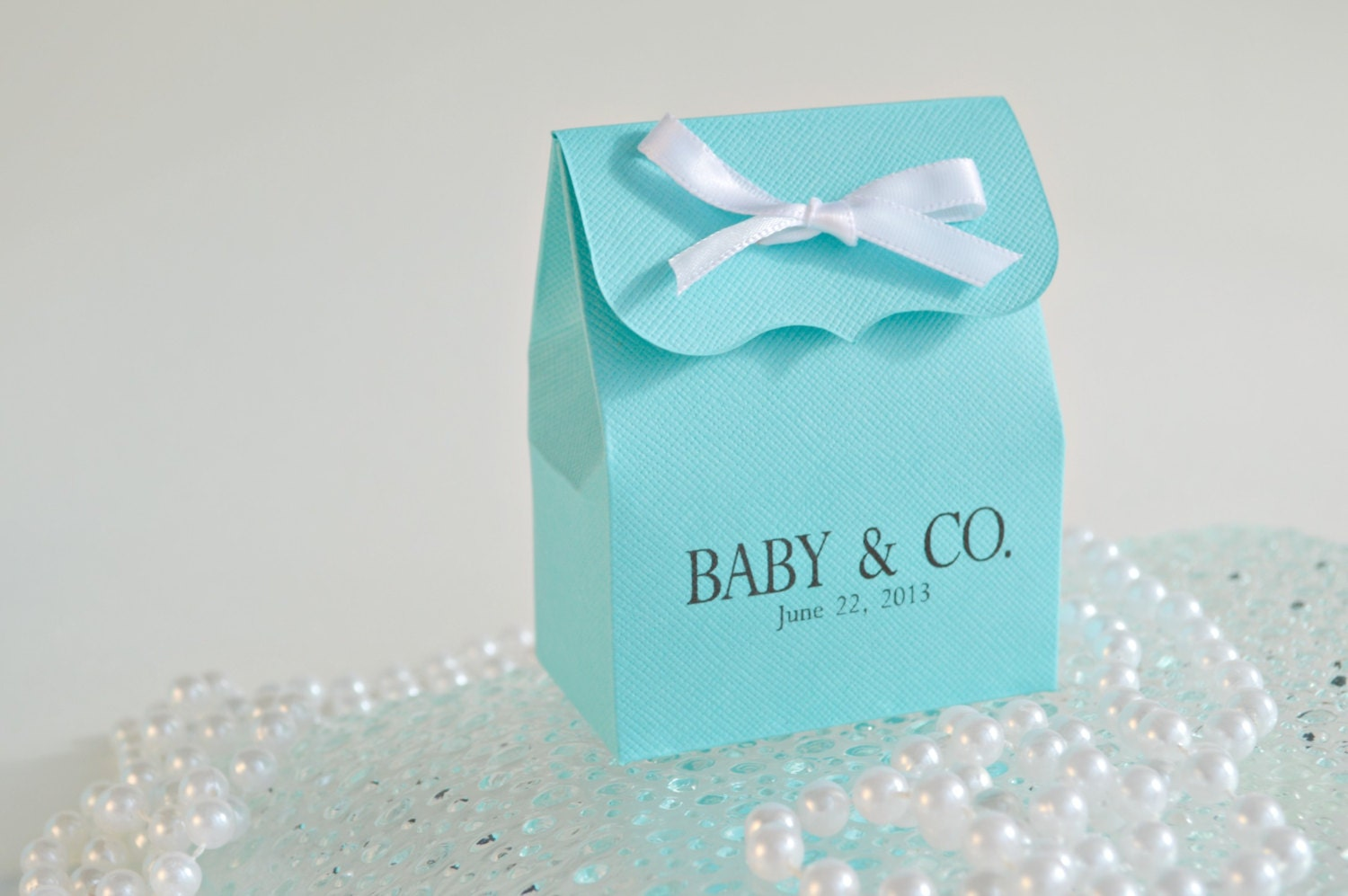 baby shower bath soak favors 10 tiffany blue personalized favor bags