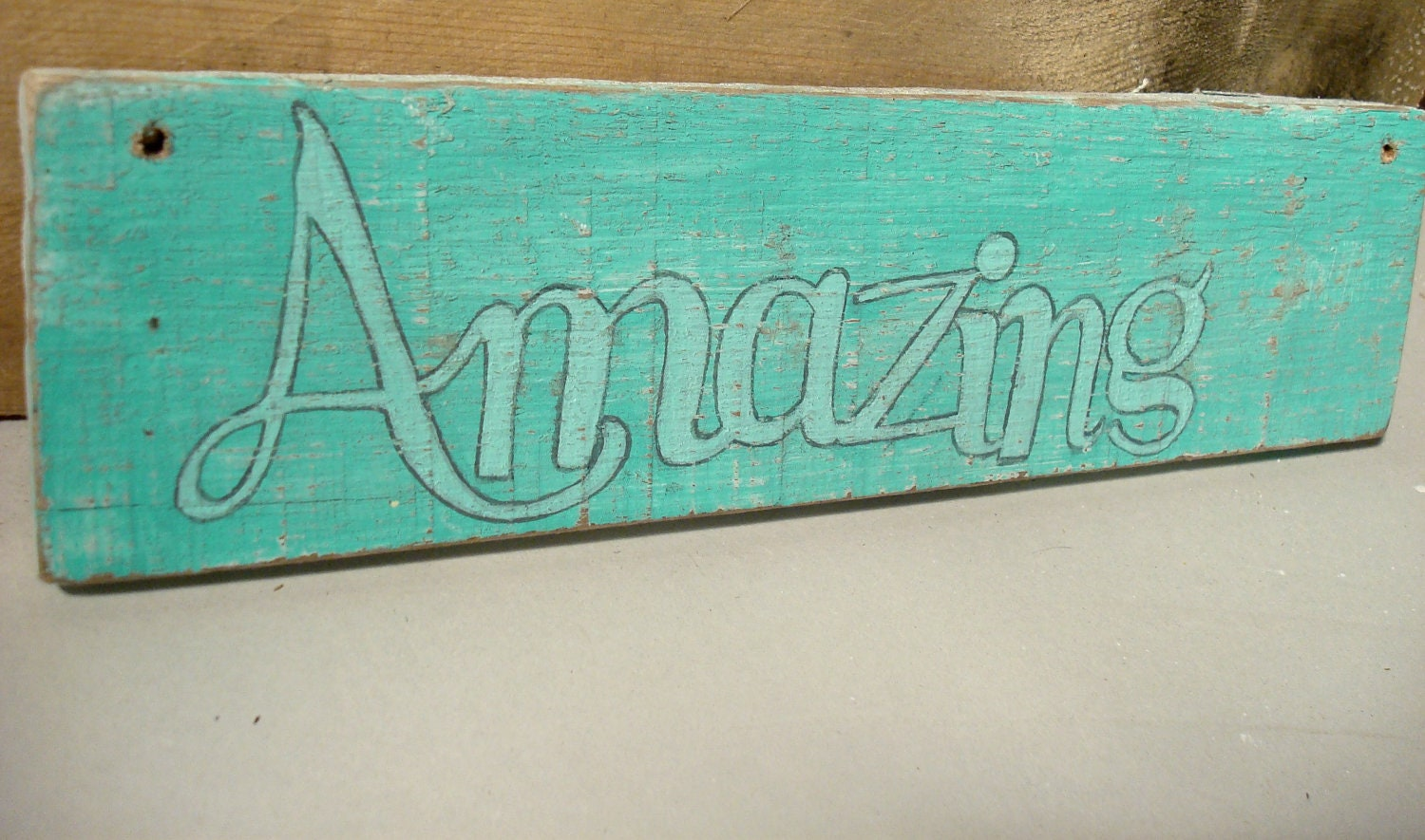 personalized wood sign--create a sign-