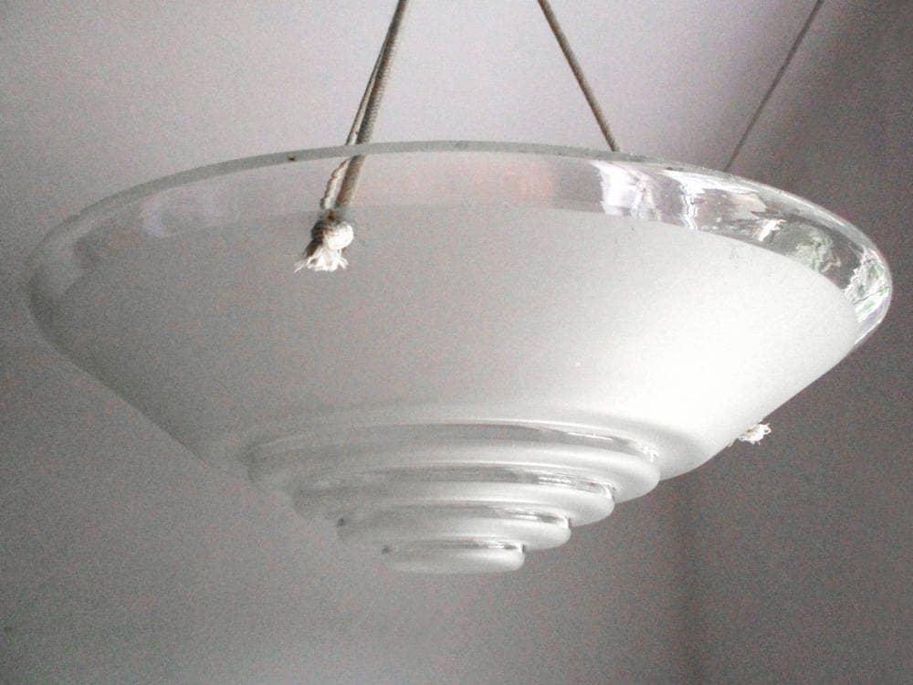 French Art Deco Lamp Shade Art Deco Light Fixture Glass Lampshade Art Deco Lighting Glass Light Shade Ceiling Light Ceiling Lampshade