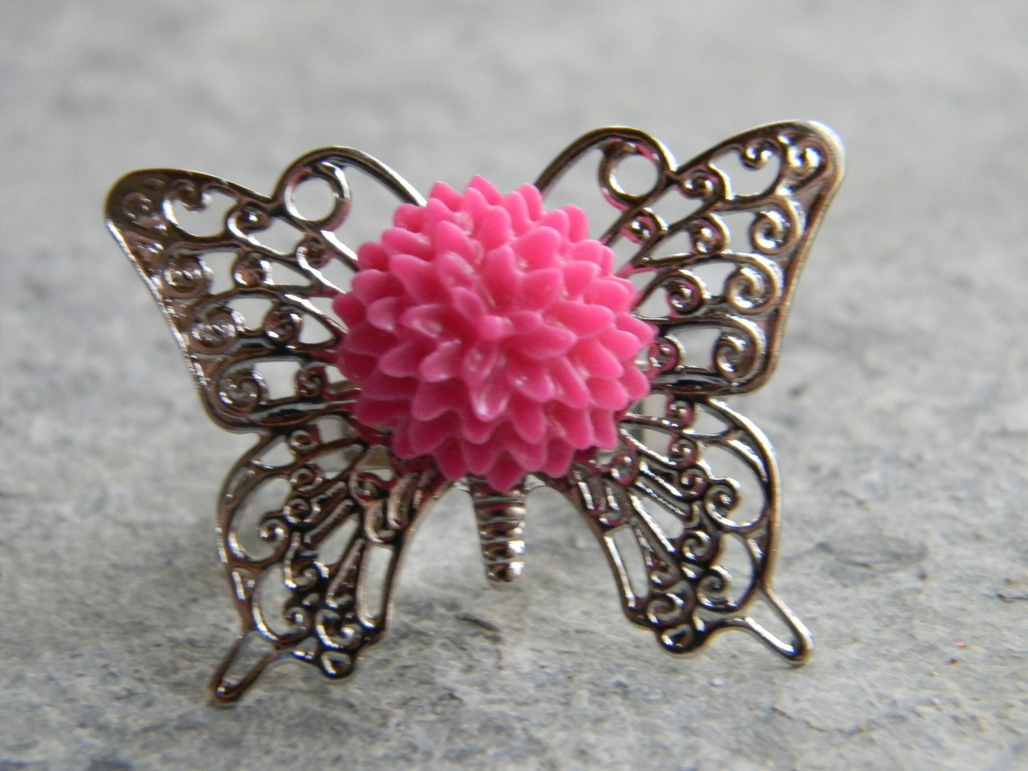 Butterfly Spring Pink Ring