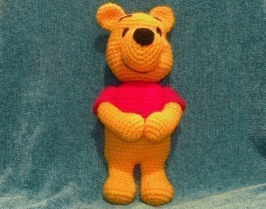 Amigurumi Winnie The Pooh : PDF Winnie the Pooh 11.5 inches amigurumi by siemprejosefina