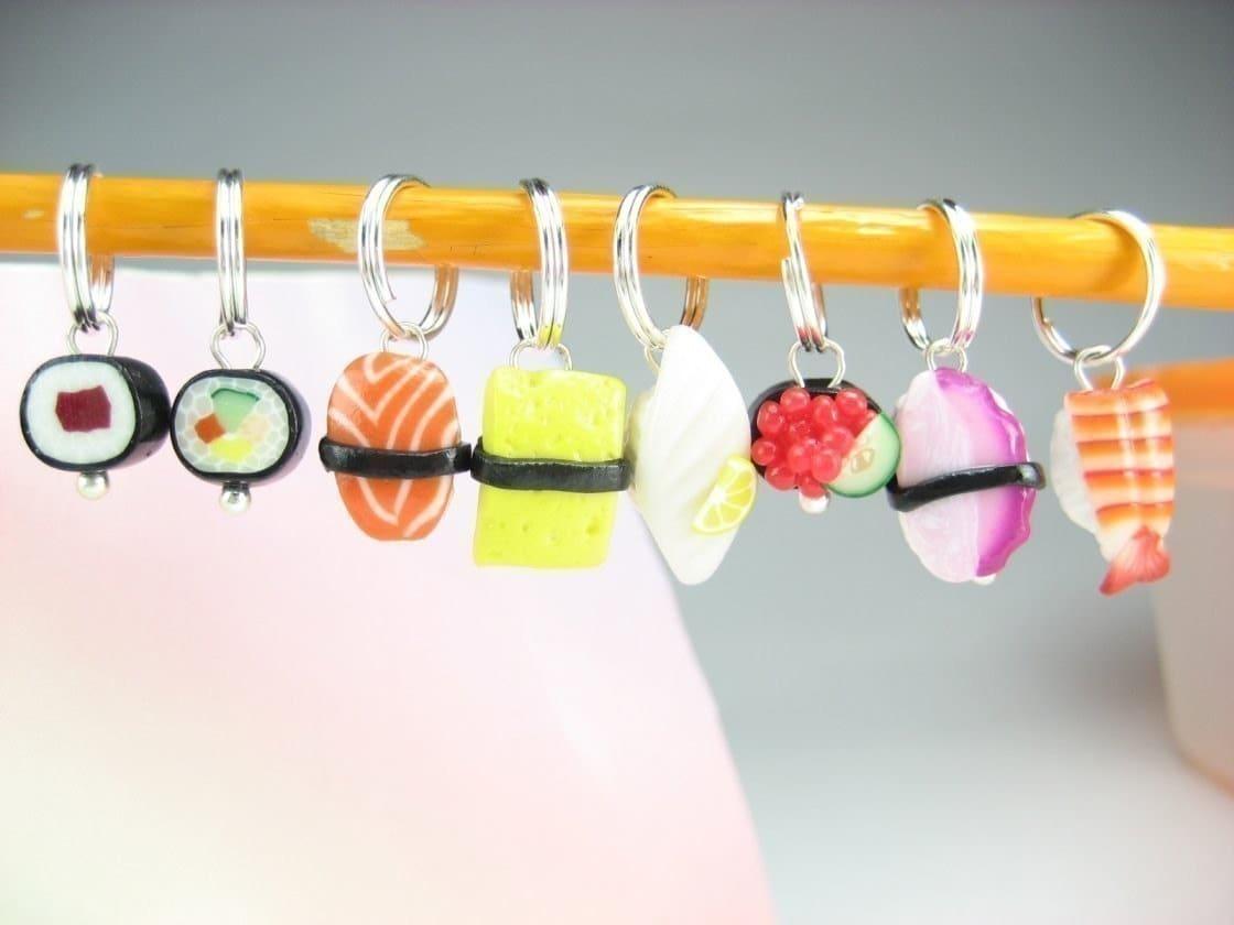 Sushi Stitch Markers (Set of 8)