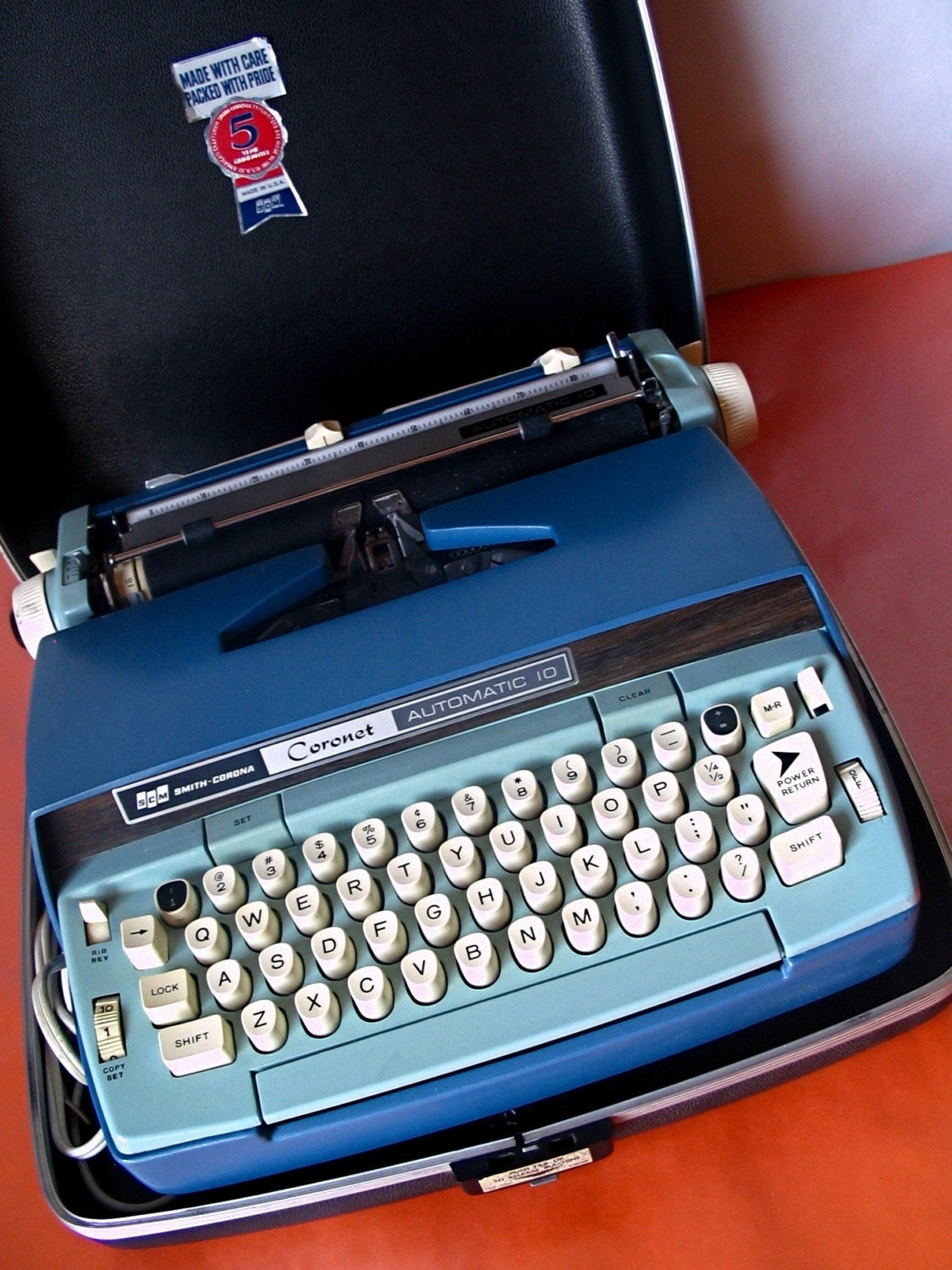 Smith Corona Coronet Automatic 10 Blue Electric Typewriter