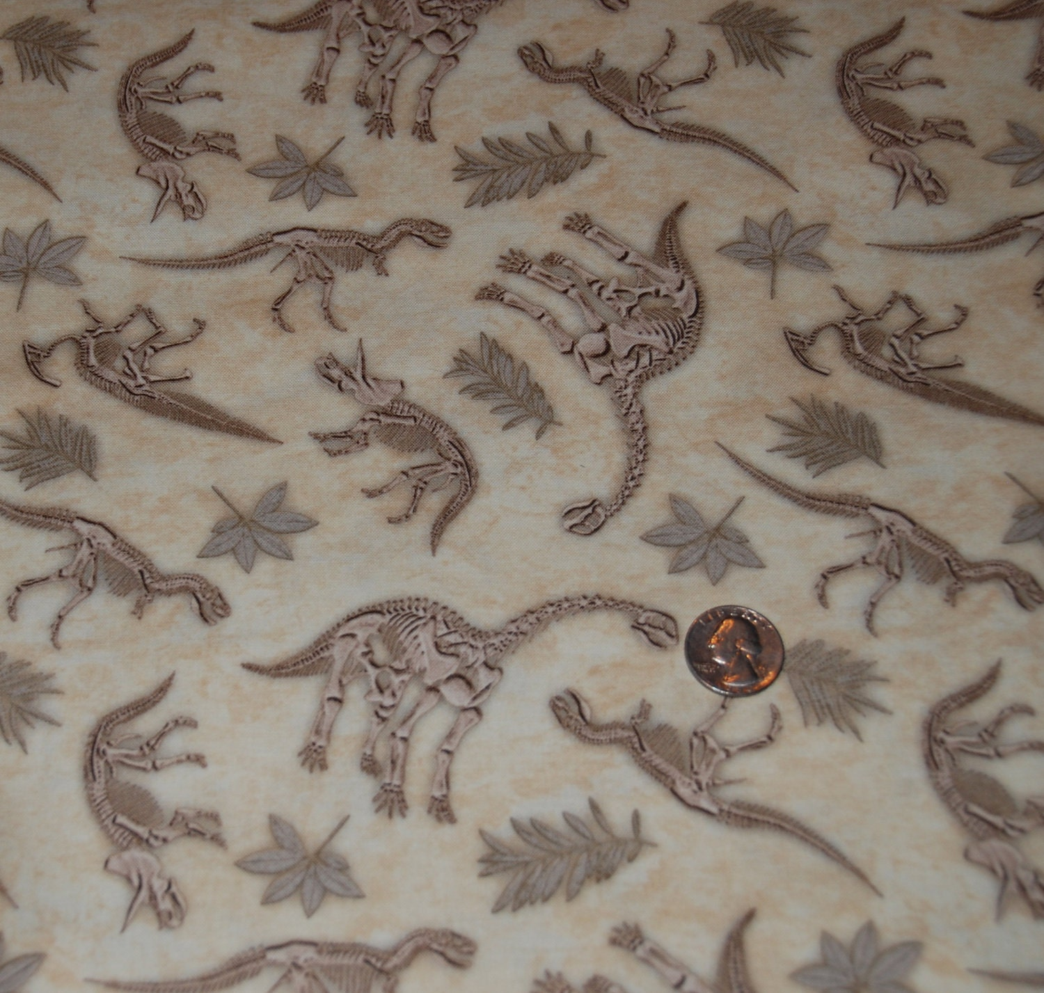 Timeless treasures fabric dinosaur fossils by fabric313 on for Dinosaur fabric
