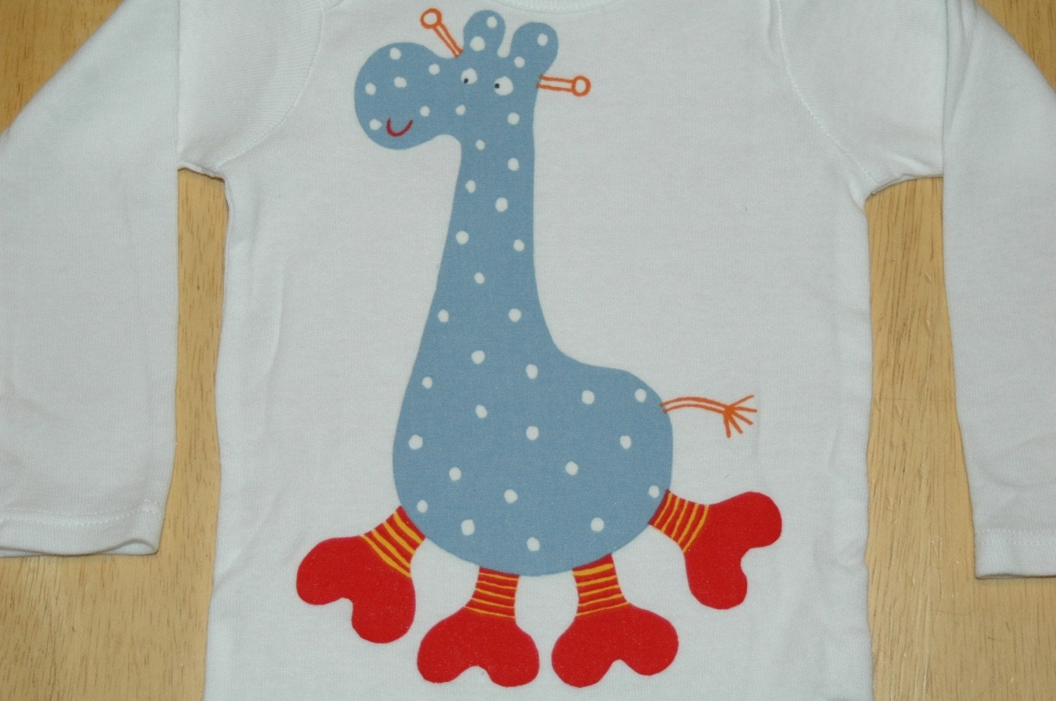 Giraffe Applique Onesie