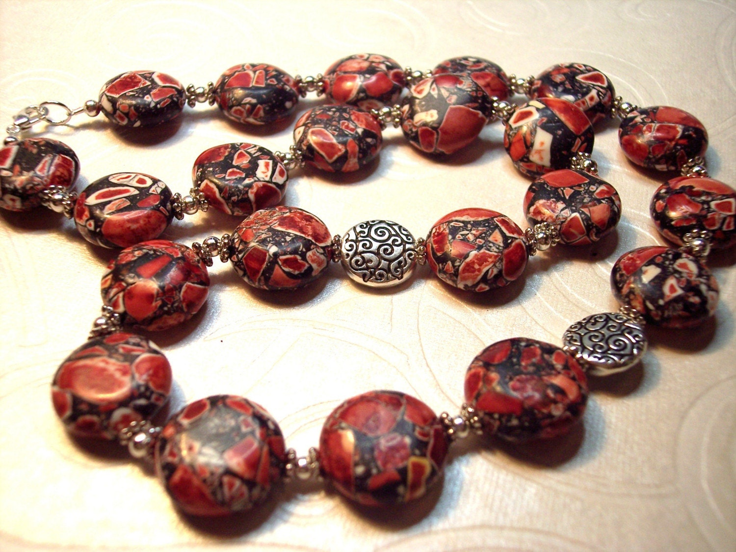 Sienna Red Turkey Turquoise Necklace Set