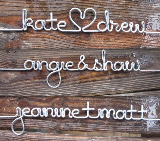 Personalized Length of Silver Wire for the DIY Wood Wire Wedding Dress Hanger
