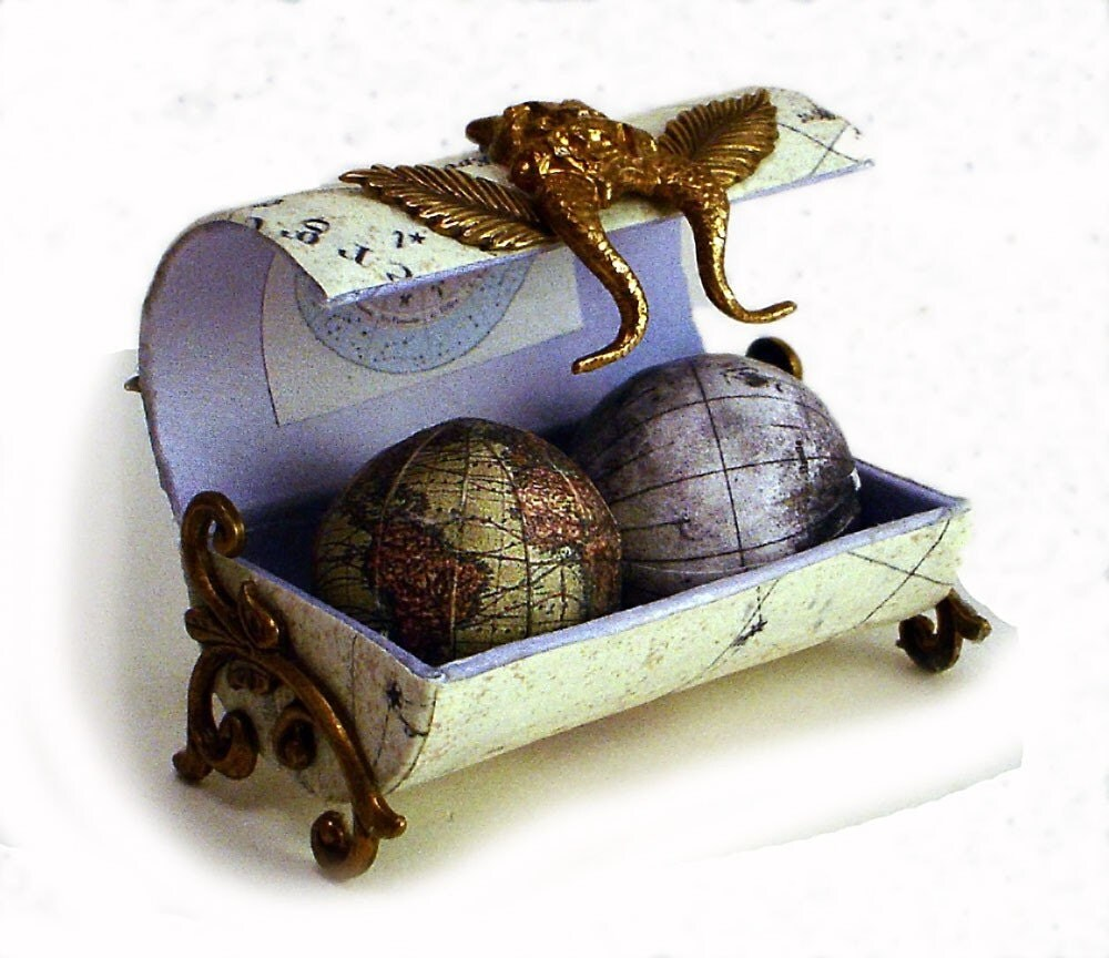 Miniature Pocket Globe by beepalix on Etsy