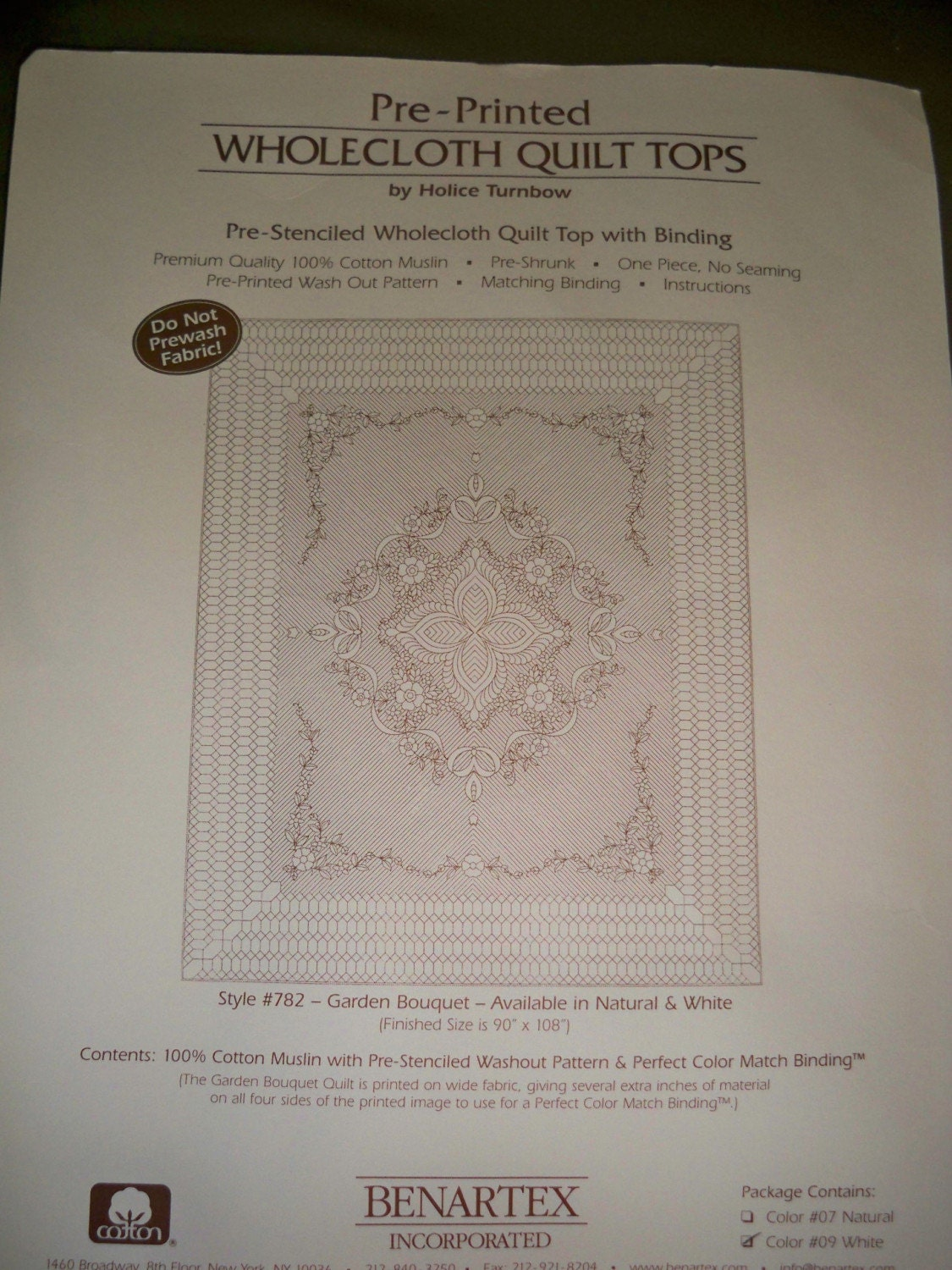 Pre Printed Wholecloth Quilt Top 90 X 108 By Lonecampquilter