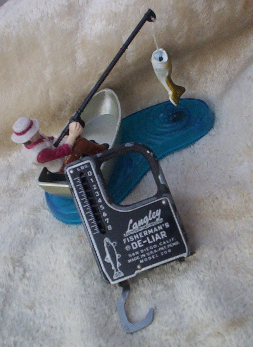 Vintage fishing scale langley fisherman 39 s by theoldgarage for Mlf fishing scale